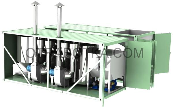 Установка термической утилизации нефтешламов и буровых шламов КЭБ ТДУ-500